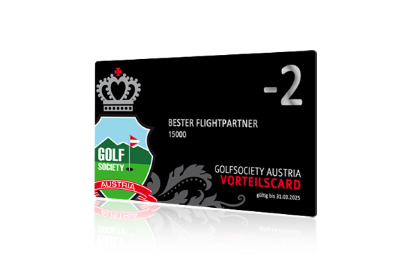 Golfsociety Austria Vorteilscard